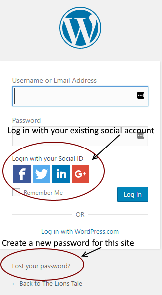 Choose a login type